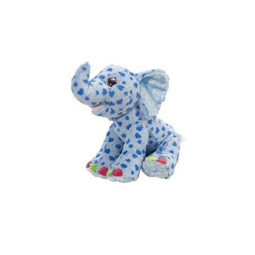 Peluche Magguy, l'éléphant Bleu 34 cm