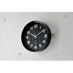 Horloge noire design Outline (ronde)