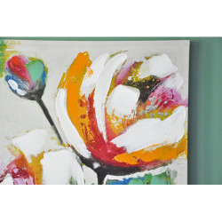 Zoom Tableau sur toile verte fleur