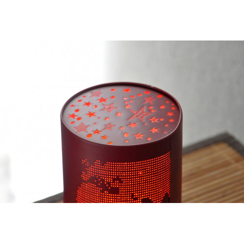 lampe veilleuse rouge motif world