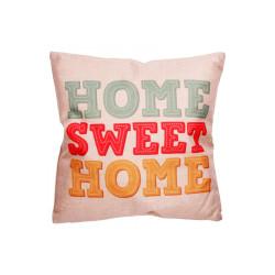 Coussin pour déco de salon - HOME SWEET HOME (43 x 43 cm)