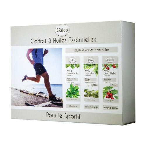 Coffret de 3 huiles essentielles spécial sport