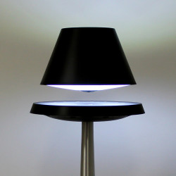 Lampe anti-gravité ALTHURIA PureLine NOIRE pied ALUMINIUM