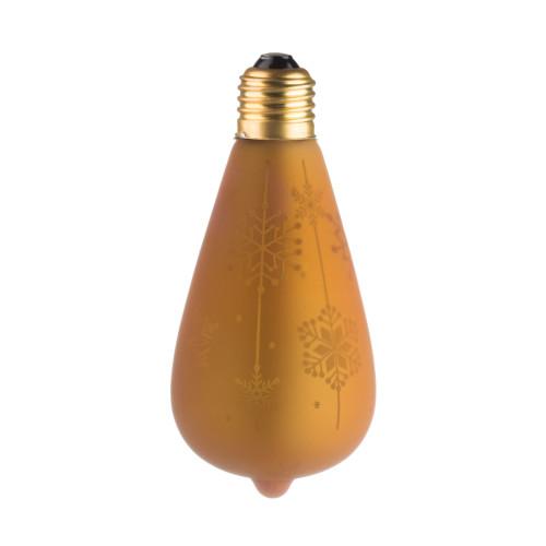 LAMPE DECO ST64 E27 DORE NEIGE ETEINTE