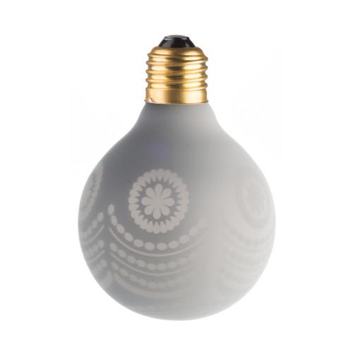 LAMPE DECO G80 E27 BLANC ET NEIGE ETEINTE