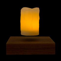Base bois + 1 bougie LED en lévitation