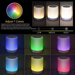 Enceinte avec 7 couleurs de lumières