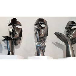 Statue Design Mr Chut Secréto grise- collection INITIAL
