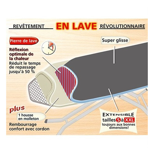 Housse de repassage Pierre de Lave 2