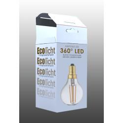 Ampoule Lampe C45 E14 filament droit classique -boite 1