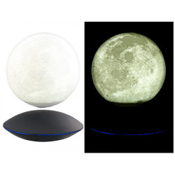 MOONFLIGHT – Globe lunaire 3D lumineux sur base UFO