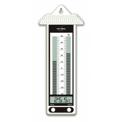 Thermomètre mini maxi blanc
